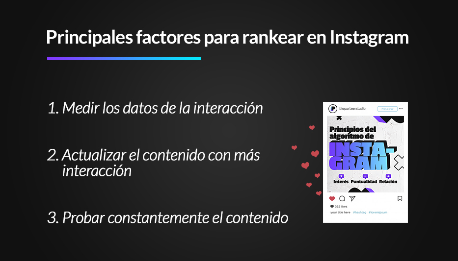 factores para mas interacción en instagram